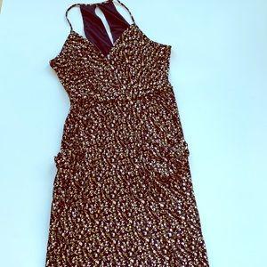 BCBG floral print dress size Medium